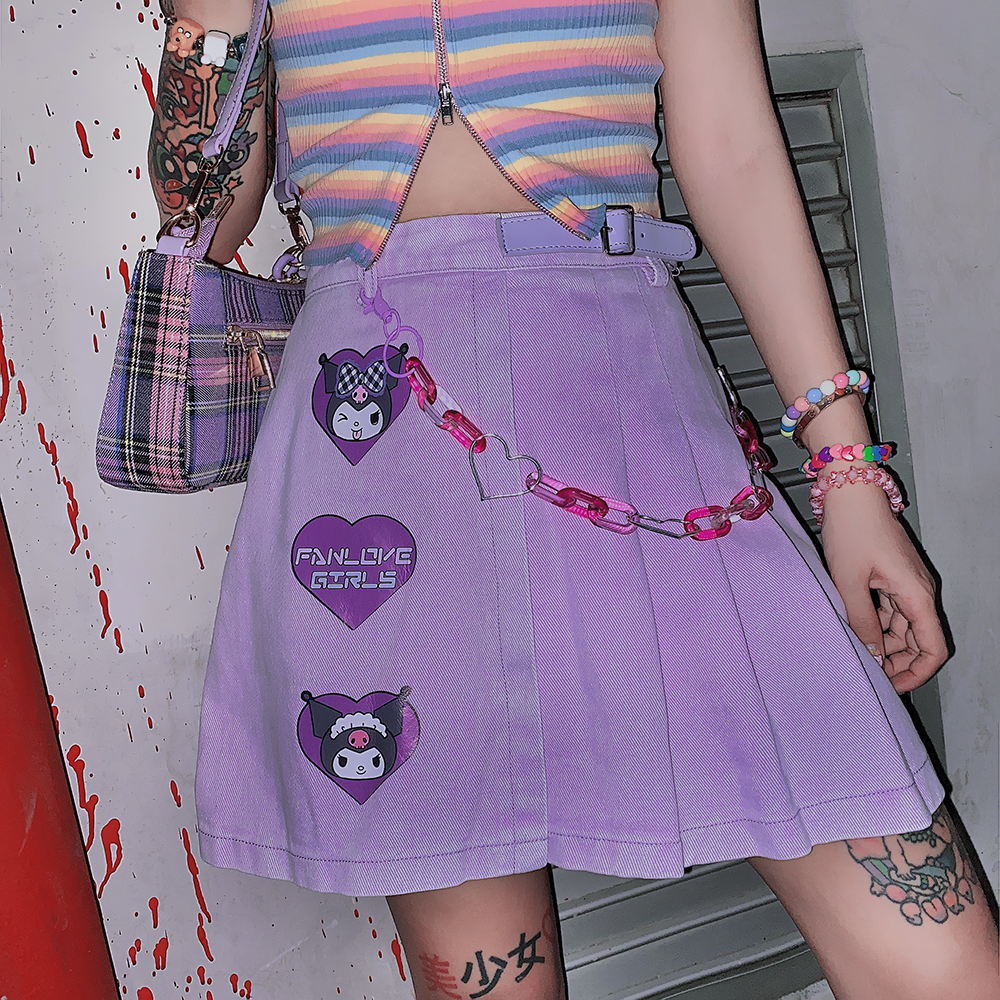 Kawaii Purple Sanrio Kuromi Skirt 2