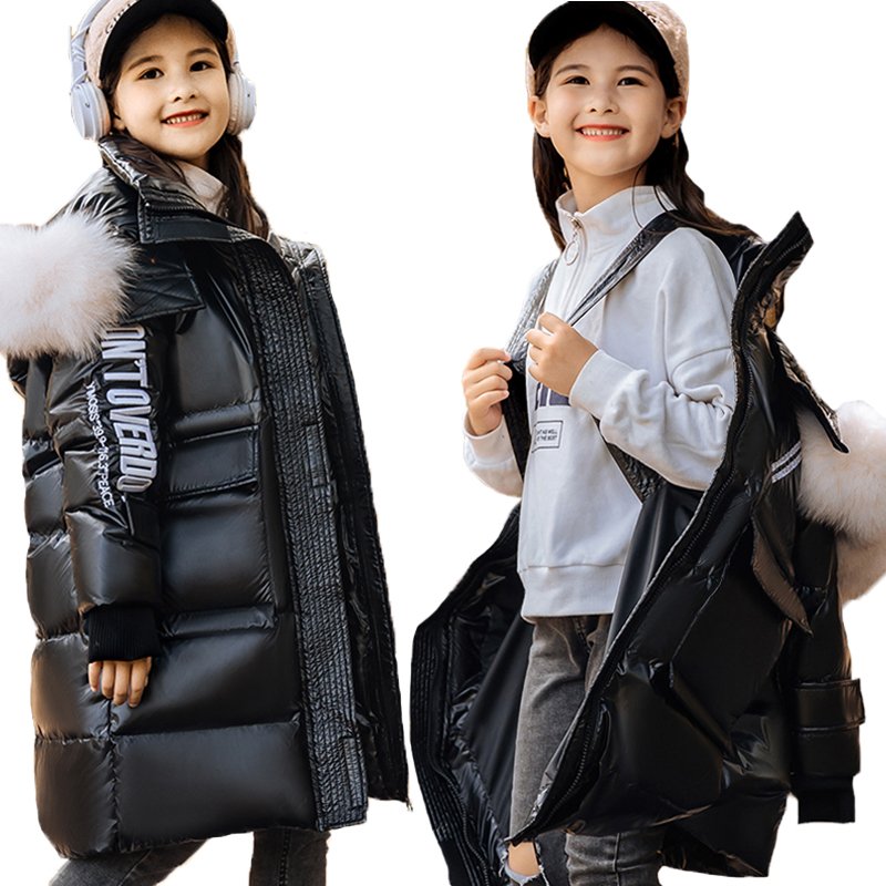 Зимняя пуховая куртка для мальчиков до-30 градусов, верхняя одежда, новинка 2020, утепленная теплая парка, детская одежда, верхняя одежда для де...