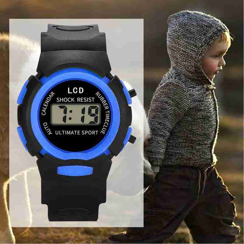 Fashion LED Electronic Digital Watch Chronograph Clock Sport Watches Children 30m Waterproof Kids Wristwatches Christmas Gifts