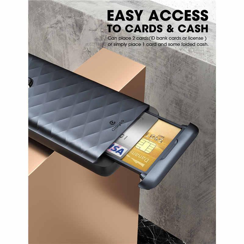 Clayco Samsung Galaxy S20 Ultra 5G durumda Argos Premium hibrid koruyucu cüzdan kapak ile dahili kredi kart/kimlik kartı yuvası