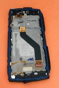 Image 2 - مستعملة الأصلي شاشة الكريستال السائل محول الأرقام شاشة تعمل باللمس الإطار ل Blackview BV7000 MT6737T رباعية النواة شحن مجاني