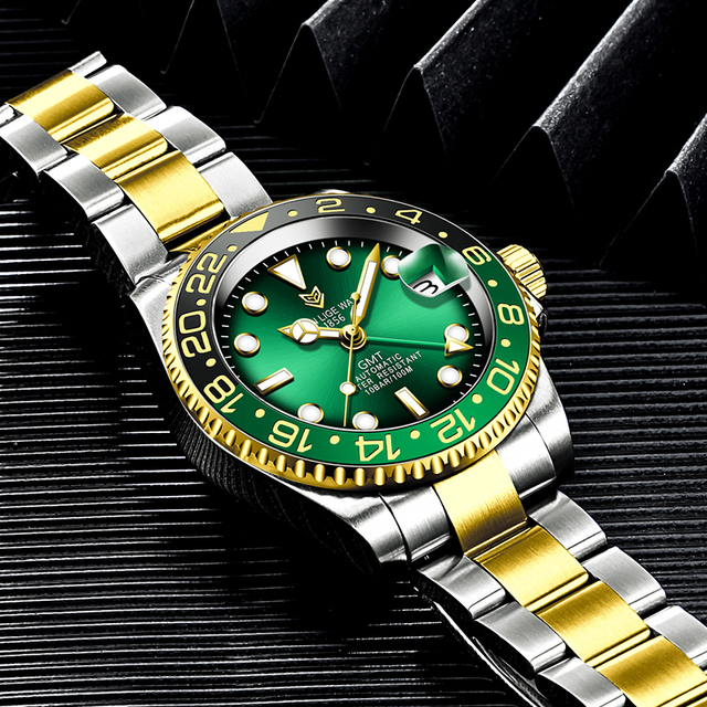 Фото часы lige мужские наручные механические роскошные модные водонепроницаемые цена
