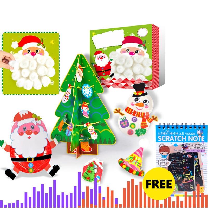 Creative Christmas Crafts For Children DIY Handmade Christmas Tree Children' Gifts LED Christmas Tree Decor Toys For Children