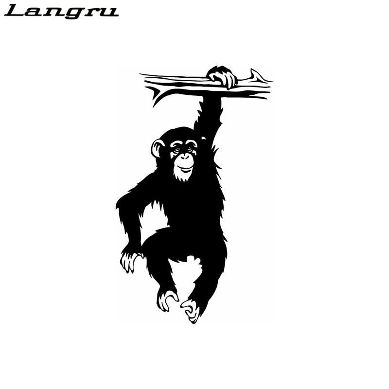 I Love Monkeys Decal Heart Ape Chimp Car Truck SUV Vinyl Window Sticker