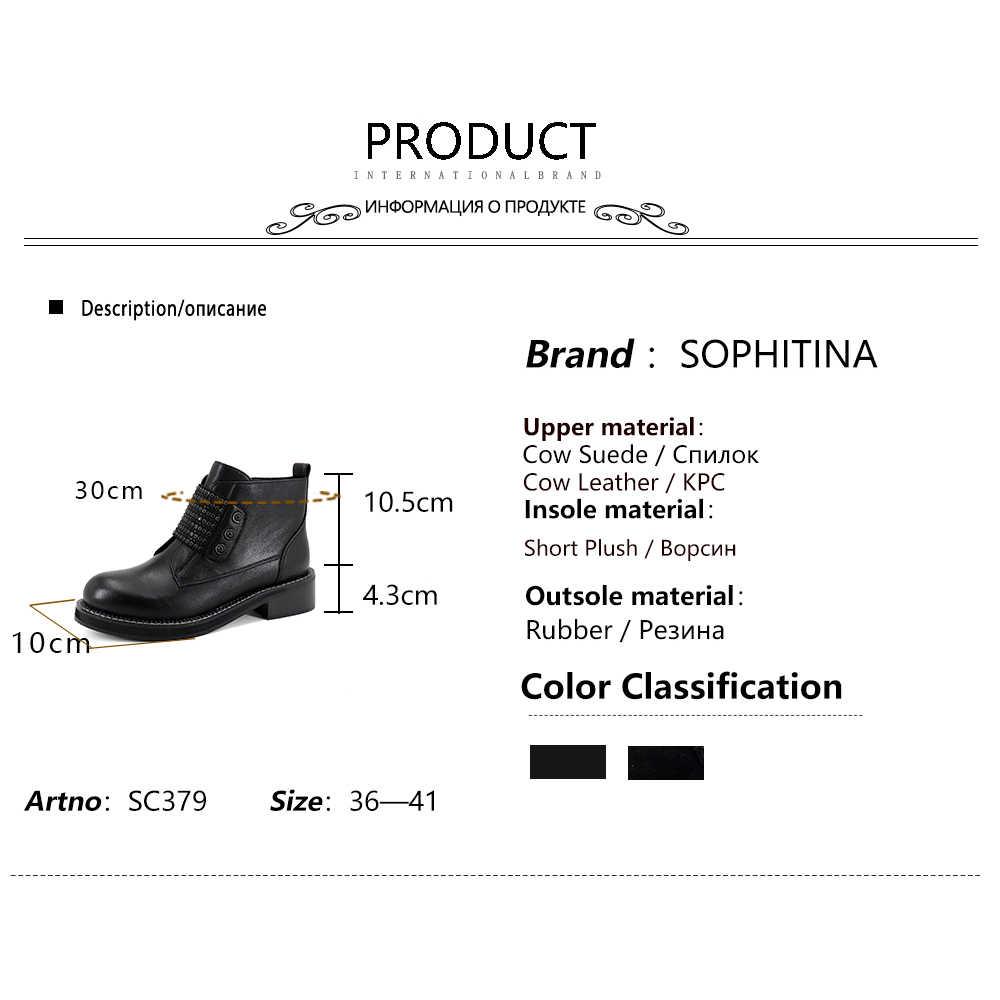 SOPHITINA orta buzağı siyah çizmeler çocuk süet Med kare topuk yuvarlak ayak Zip kaliteli sıcak satış kadın ayakkabı kış termal botlar SC379