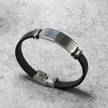 New Luxury Stainless Steel Accessories Genuine Leather Silver Colors Men Bracelets Woven Bracelet For Birthday