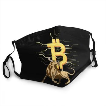 Bitcoin Bull Reusable Unisex Adult Mouth Face Mask BTC Crypto Currency 1