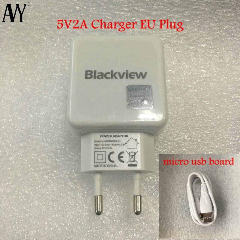 AVY pour Original Blackview BV6000 BV10000 BV5800 A20 prise ue chargeur de voyage connecteur Micro USB câble pour téléphone BV6000S A60 Pro
