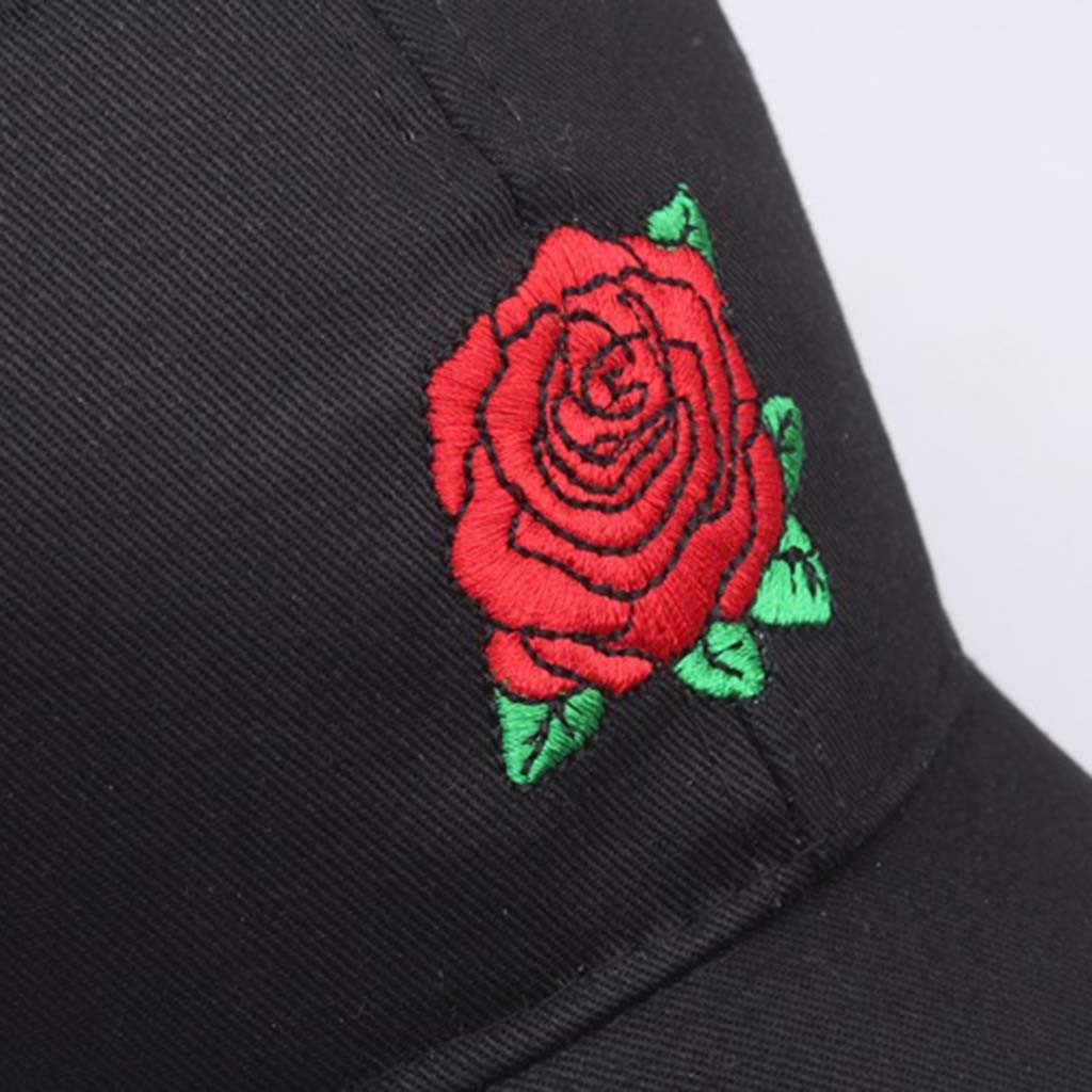 Gorra de béisbol bordada Floral para mujer y hombre con visera curvada gorra de béisbol hip-hop ajustable de verano gorra de sol gorra de deporte Snapback