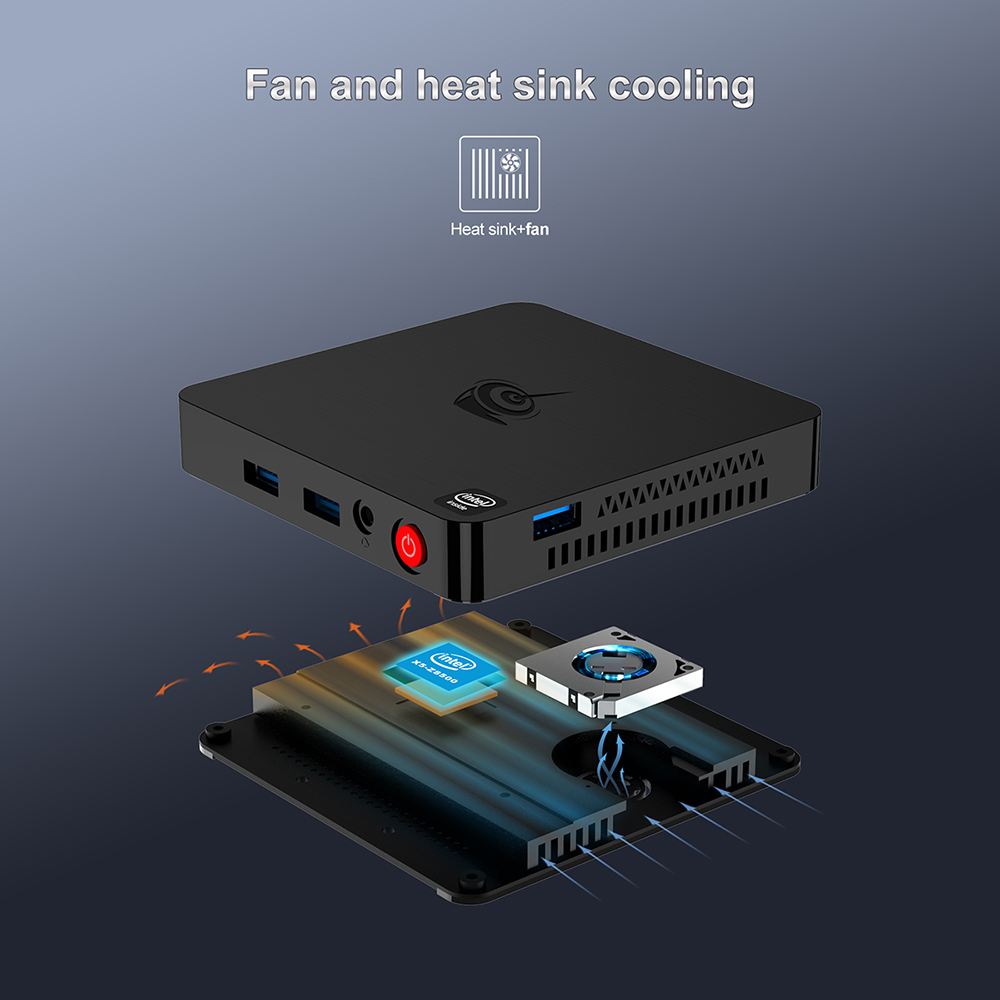 Image 2 - Beelink t4 mini caixa de tv pc intel atom x5 Z8500 windows 10 novo desktop 4 gb + 64 gb 2.4/5.8 ghz wifi bt4.0 hdmi + dp dupla exibiçãoMini-PC   -