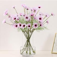 10 Bouquets 5 Heads Artificial Calliopsis Flowers Fake Silky Coreopsis with Stem X7YC