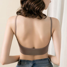 Women Tops Sexy V Neck Tank Tube Top Sleeveless Homewear Seamless Fashion U Neck Style Chest Pads Solid Crop Top Women Bra Top fashion plunging neck strappy ruffles tank top for women