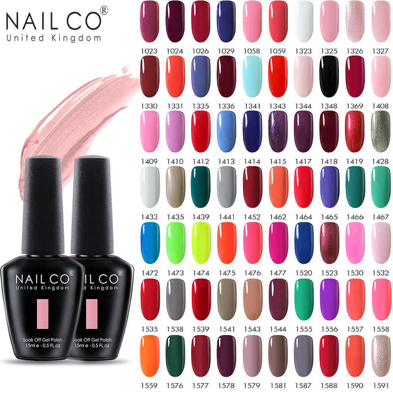 NAILCO 15ml Gel Uv Nail Polish Primavera e L'estate Semi-permanente Verni Gel Per Unghie Hybrid Art Acido-spedizione Soak Off Lacquer Unghie Artistiche