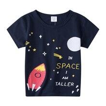 Kids Tee T-Shirt Short-Sleeve Baby-Boys-Girls 1-6years Children Cartoon Summer 100%Cotton