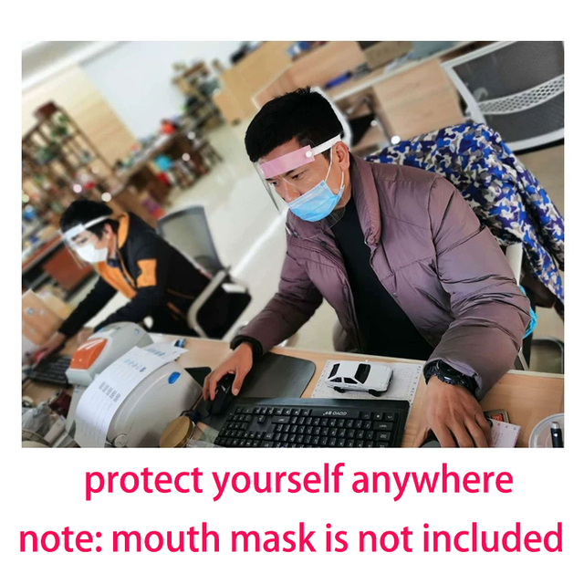 5pcs Full Face Cover Mask Clear Face Plastic Mask Transparent Mouth Cover Full Face Protect Tool Anti flu Spread 2