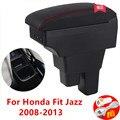 Центральная консоль коробка для хранения подлокотник для Honda Fit Jazz 2008-2013 Arm Rest 2009 2010 2011 2012
