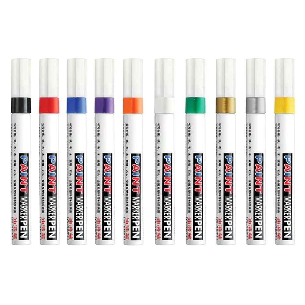 Opona samochowodwa tłustej marker z farbą malowanie długopis związek ciała Auto gumowa bieżnika opony stałe marker do malowania dotykać się farba do malowania