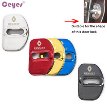 Ceyes Car Styling Auto Door Lock Cover Case For Renault Scenic Laguna Captur Megane 2 3 Fluence Latitude Car Sticker Accessories