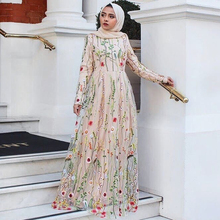 Siskakia Chic Lace Embroidered Long Dress luxurious Sweet Du