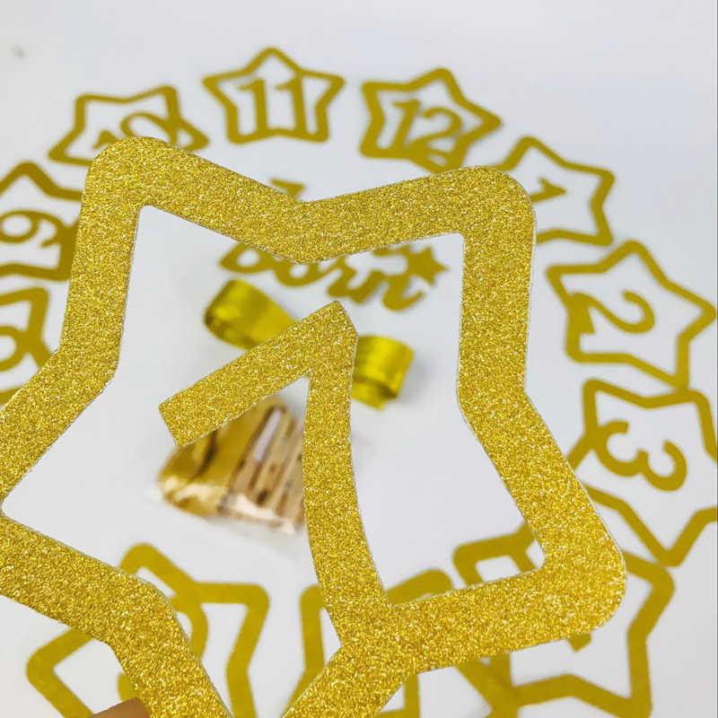 Jahrestag Liefert Gold Foto Clip Holz Schellen Meilenstein Geburtstag Party Banner Kinder Zimmer Dekorative Baby Wachsen Souvenirs