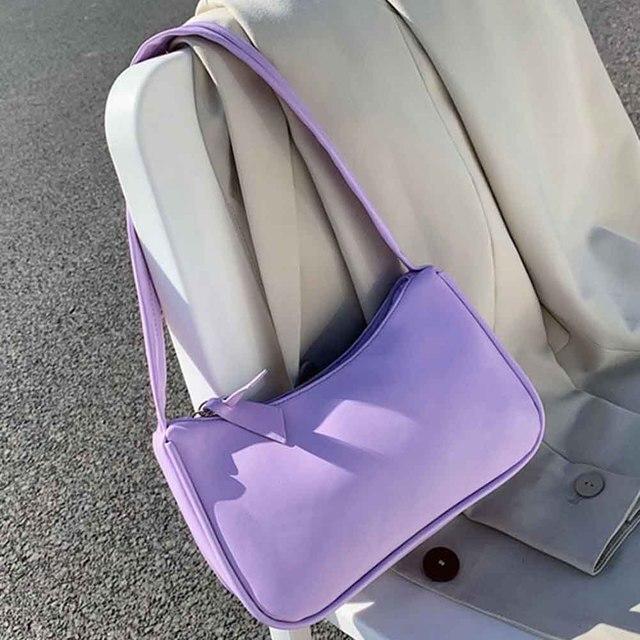 Handle Bag Women Retro Handbag PU Leather Shoulder Totes Underarm Vintage Top Handle Bag Female Small Subaxillary Bags Clutch 1