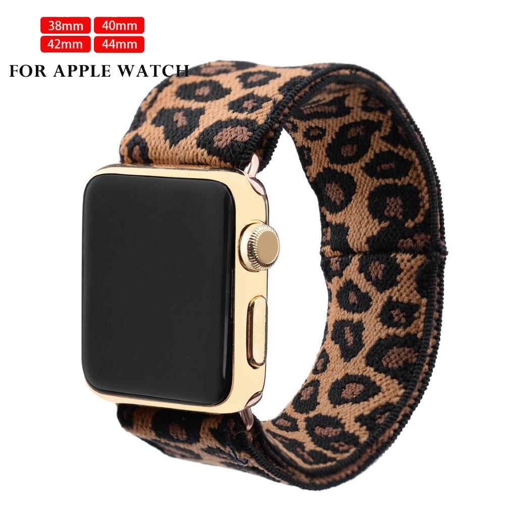 Scrunchie Elastic Watch Loop For Apple Watch 5 Band  Strap 38mm 40mm 42mm 44mm For Iwatch Series 5 4 3 2 1 Belt Wrist 40mm Loop