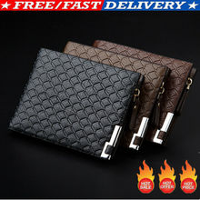 New men's wallet fashion smooth soft leather cross-section m