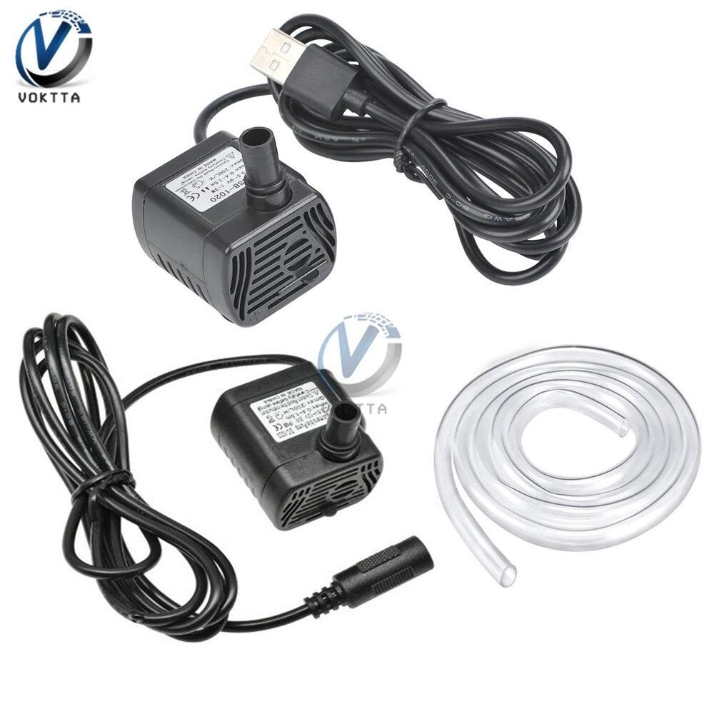 Mini USB Pump DC 12V-1020 DC 5V-1020 200L/H Micro Brushless Solar Submersible Water Pumping 3W For Aquarium Fish Fountain