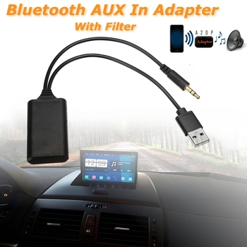 Car Wireless Bluetooth Module Music Adapter Auxiliary Receiver Aux Audio Usb 3.5Mm Socket For Bmw E90 E91 E92 E93 image