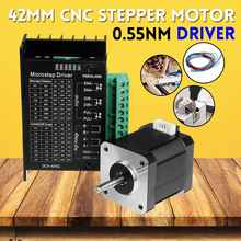 24V 42MM Digital 3D Printer CNC wood router Machine Engraver 2-phase Stepper Motor with Motor Driver Antenna 0.55Nm Board Kit(China)