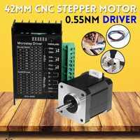 24V 42MM Digital 3D Printer CNC wood router Machine Engraver 2 phase Stepper Motor with Motor Driver Antenna 0.55Nm Board Kit