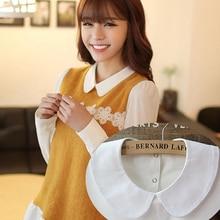 Korean Style fake collar ladies Blouse Autumn Kawaii Pater pan fake Collar Winte
