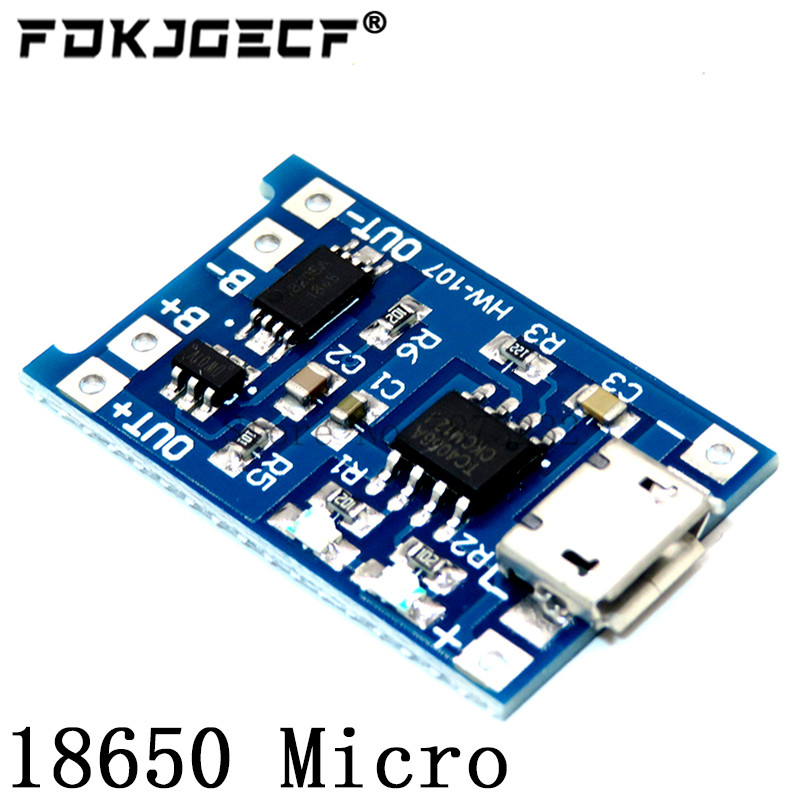 TP4056 With Protection Dual Functions 5V 1A Mini Micro TYPE-C USB 18650 Lithium Battery Charging Board Charger Module 1A Li-ion 4
