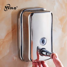 Liquid Soap Dispensers Wall Mounted 1000ML/500ML Stainless Steel Manual Shampoo Dispenser Kitchen Bathroom Fitting For Hand