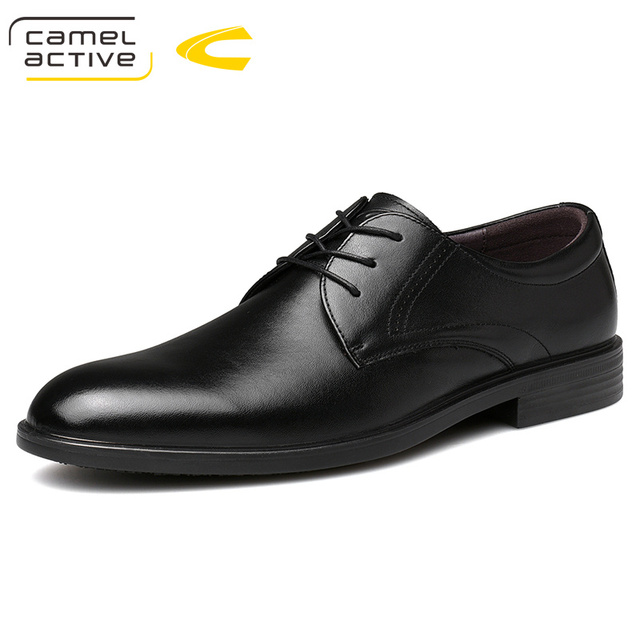 Camel Active New Business Wedding Dress Shoes England Genuine Leather Shoes Soft Leather Shoes Men Elegant Derby Casual Shoes