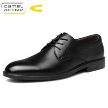 Camel activo nuevo negocio boda Vestido zapatos Inglaterra zapatos de cuero genuino zapatos de cuero suave Hombres Elegantes zapatos casuales Derby