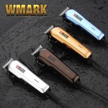 Cortadora de pelo con cable profesional WMARK 6000 6500rm motor de corriente continua afilado y hoja libre de luz con peine guía NG 555