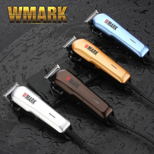 WMARK プロ有線バリカンヘアトリマー 6000 6500rm dc モータシャープと光送料ブレードセットでガイドコーム NG 555