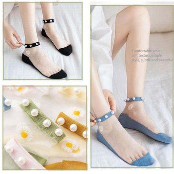 Ladies Pearl Decorated Socks