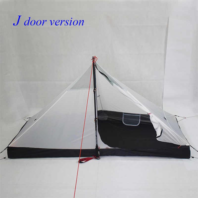 340 gram J kapı/390 gram T kapı tasarımı Lanshan 1 dört mevsim inner210 * 95/75*112cm çadır