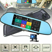 цены Car DVR Full HD 1080P 7 Inch IPS Touch Video Recorder Camera Dual Lens with Rear View Camera Auto Registrator Dash Cam