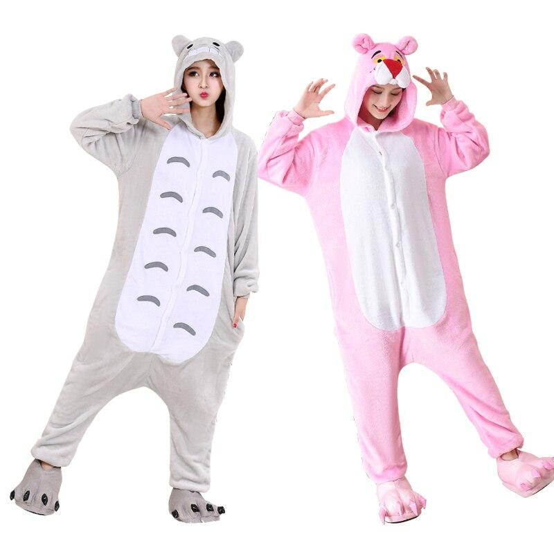Large XXL Animal Kigurumi Pajamas Onesie For Adults Cartoon Pijamas Women One-Piece Cosplay Costume Halloween Onesies Jumpsuit