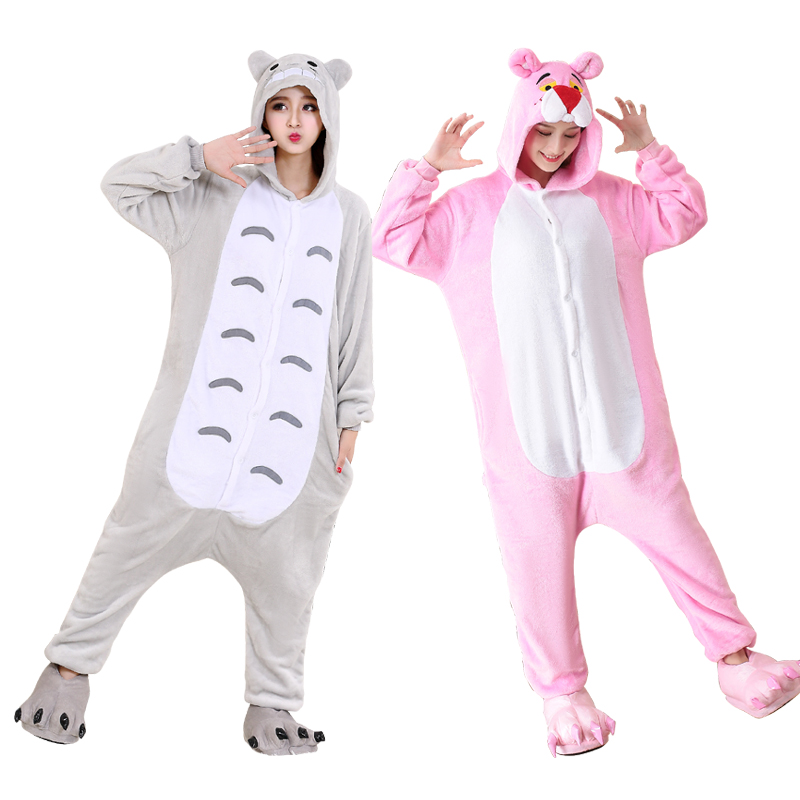 Large XXL Animal Pajamas Onesies For Adults Cartoon Pijamas Women One-Piece Pyjamas Cosplay Costume Halloween Onesies Jumpsuit