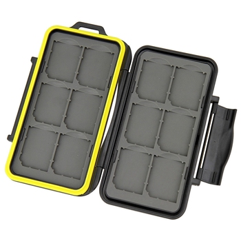 Water-resistant Shockproof Storage Memory Card Case For 12 SD Cards Bag