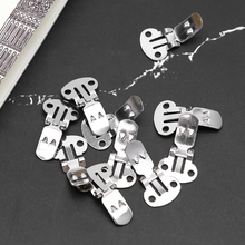 10Pcs Silver Cutout Stainless Steel Shoes Clips Clip On Ornaments Findings DIY T8NB