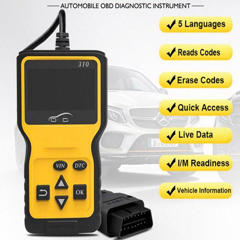 V310 OBD2 OBDII engine check code scanner reader diagnostic scanner tool BBC auto parts