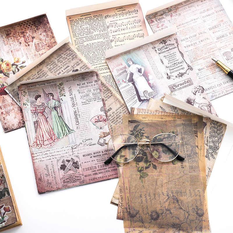 5.5 ''* 7.9'' פרח פרפר מכתב בדוגמת נייר כרית לקמוס חמאת רעיונות נייר חבילה בעבודת יד רקע אספקת מלאכה