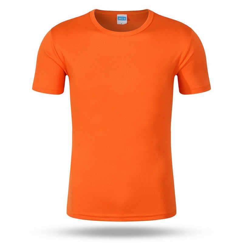 Quick dry Crew t-shirt t shirt a manica corta per gli uomini uniforme tuta outdoor traspirante Adulto l'assorbimento di Umidità fresco magliette