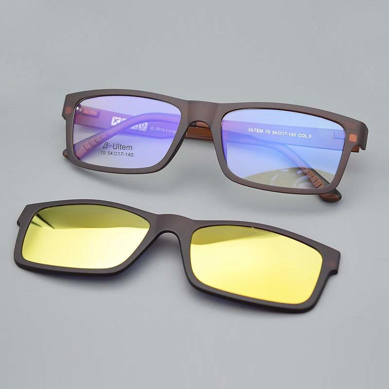 Cermin mata ultra-ringan Kaca Magnet klip Sunglasses Bingkai Myopia - Aksesori pakaian - Foto 6