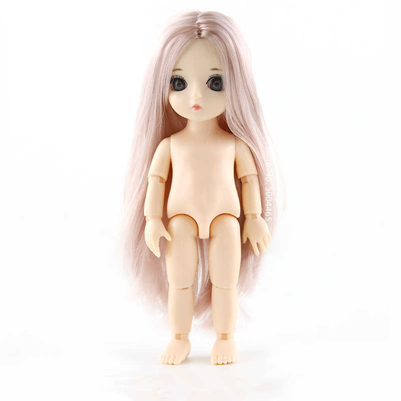 Baby Dolls13 Jointed Moveable BJD Baby Doll Naked Nude Body 15cm Figma Fashion Dolls Toy for Girls Gift 1/8 DIY Toys